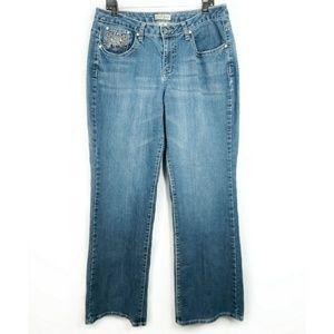 Earl Light Wash Plus Size Rhinestone Pocket Jeans